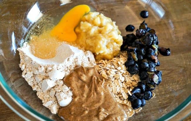 Blueberry banana dog treat ingredients