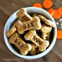 Carrot and cheese dog treats
