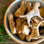 carrot parsley and cheese dog treats in bowl