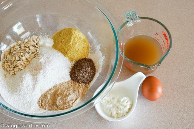 Ingredients used when making cottage cheese and chicken broth dog treats