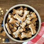 peanut butter blueberry and banana dog treats