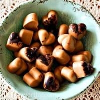Peanut butter and carob frozen dog treats