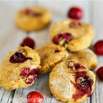 Pumpkin cranberry dog treats on white board